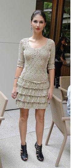 delicado e lindo vestido dress crochet crochê summer primavera verão 2016 2017 curto moda tendência