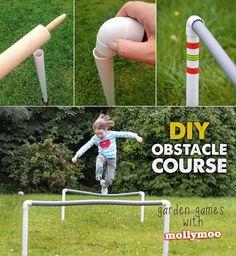 DIY obstacle course - garden games