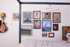 vintage paintings gallery wall - inspiration for FR and A's room
