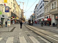 Cyclists, pedestrians, trams and cars sharing the street in 20 km/h shared space zone in Linz! Zen, The Future Is Now, Cyclists, Pedestrian, Urban Planning, Urban Landscape, Urban Design, Transportation, Graduation