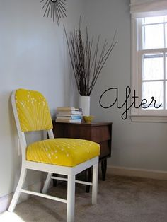 "cool repurposed chair ""how to"" tutorial. And less than $20!"