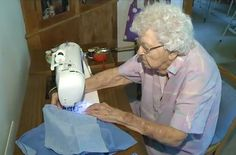 this 99-year-old woman makes a dress for a child in Africa every day -- I want to be her when I grow up!