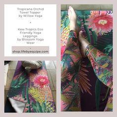 Yoga Classes, Yoga Mats, Yoga Wear, Live Long, Fun Prints, Yoga Leggings, High Waist, Towel, Tropical