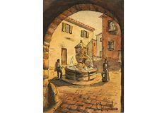 Village  Fountain, C. 1930 on OneKingsLane.com Reminds me of Venasque