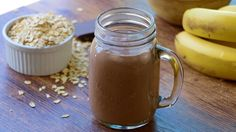 Breakfast is the most important meal of the day. And chocolate, the most delicious ingredient of all! So why not mix the two together and make a chocolaty breakfast smoothie. After all, the French eat Chocolatines for breakfast all the time, no? For a healthier option, I use a natural sweetener. This breakfast smoothie is a great way to pack a little extra nutrition into your menu and start your day happy and energized. Philippe, Breakfast Smoothies, Mason Jars, Important, Brunch, Mugs, Afin, Drinks, Tableware