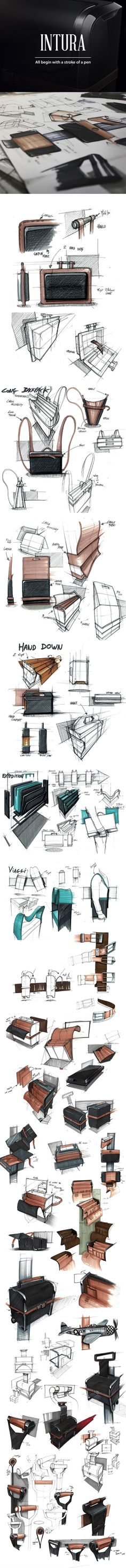 AIRLINE PILOT CASE - PERSONAL SKETCHES AND RENDERINGS by Francois Baptista, via Behance