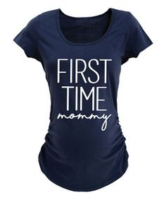 62ab39f8ec818 Navy 'First Time Mommy' Maternity Tee Pregnancy Announcement Shirt, Pregnancy  Shirts, First