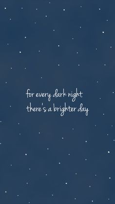 Por cada noche oscura  Hay días brillantes  Midnight navy blue stars sky Brighter Day iphone background lock screen phone wallpaper