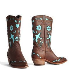 Blue Bird Turquoise boots (Woman)