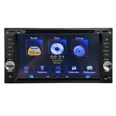 Double 2DIN In Dash GPS Navi Car DVD Player Bluetooth Auto Stereo Radio@318