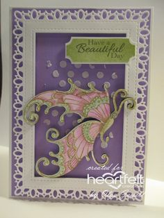 beautiful day butterfly card by Olga Jewell Crafters Companion Cards, Heartfelt Creations Cards, Owl Punch, Anna Griffin, Butterfly Cards, Beautiful Day, I Card, Scrapbook Pages, Cardmaking
