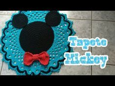 #Tapete Mickey jogo de banheiro - YouTube