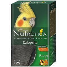 Ração Nutrópica Pássaros Calopsitas com Frutas - Meuamigopet.com.br #asas #asa #animais #aves #passaros #meuamigopet