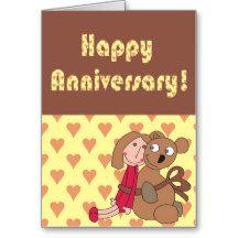 Custom Happy Anniversary Card, Cute Love  Card