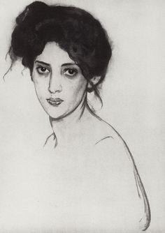 Valentin Serov, Portrait of Izabella Grunberg, 1910