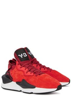58da82e10 Kaiwa red suede trainers - Y-3 Suede Trainers