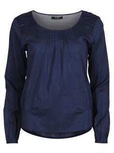 FINE LONG SLEEVED BLOUSE, Total Eclipse, main