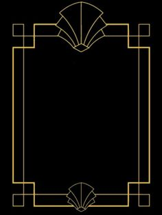 great gatsby style art deco template birthday party signs quote