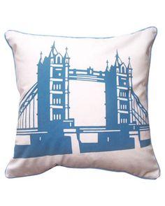 Naked Decor 'Tower Bridge of London' Decorative Pillow