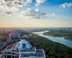 Kiev cityscape. drone photo