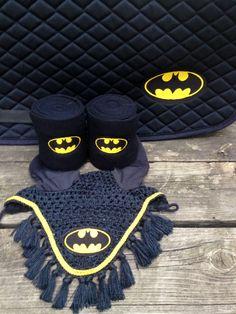 NEED.  Batman Logo Embroidered Set Saddle Pad Polo by TheHoundstoothHorse