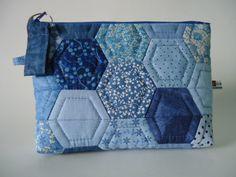 Patchwork Pouch - Half Hexagon