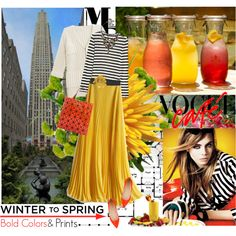 Winter to Spring, created by hatsgaloore on Polyvore
