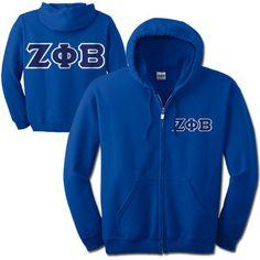 Zeta Phi Beta Full-Zip Hooded Sweatshirt #ZetaPhiBeta #Greek #sorority #Zeta #clothing