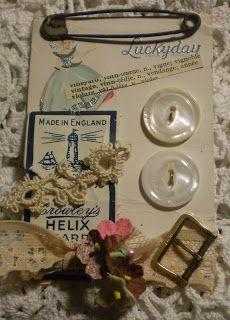 Button Floozies: Vintage Button Card ATC