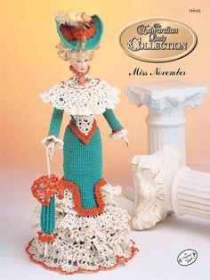 Barbie Crochet: The Edwardian Lady Promenade Costume Miss November 1996 $3.95 on e- patternsCentral