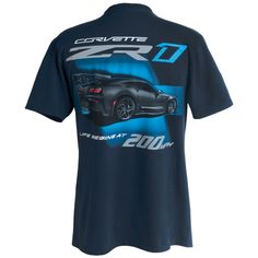 Large All Year Corvettes T-shirt : Dark Heather C7 Corvette Living Legend