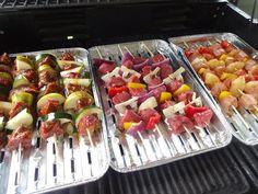 Edel's Mat & Vin : Gode grillspyd ♫♫ Sausage, Meat, Food, Pineapple, Wine, Meals, Sausages, Yemek, Eten