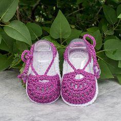 Crochet Sandals Crochet Baby Girl Sandals by DaisyNeedleWorks