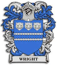 wright+family+crest | Wright Family Crest - Heraldic Jewelry