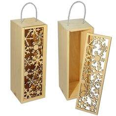 Wall Laser Cutter Projects, Metal Projects, Wooden Wine Boxes, Wood Boxes, Wood Packaging, Gravure Laser, Laser Cut Box, 3d Cnc, Laser Art