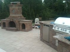 Cambridge's outdoor fireplaces come in pre-packaged, easy to install kits!