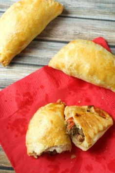 Cheesy Beef & Bean Empanadas - Just like the ones I had in Brazil!