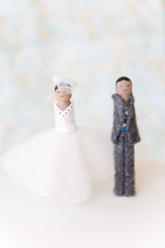DIY Wooden Clothespin Cake Toppers