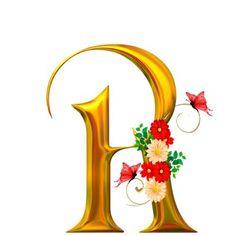 alphabets fleurs - Page 3 Alphabet Writing, Alphabet Art, Alphabet And Numbers, Fancy Letters, Gold Letters, Initial Letters, Calligraphy Fonts Alphabet, Font Art, Flower Alphabet