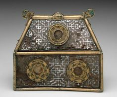 Reliquary casket late 7th century Champleve enamel on bronze