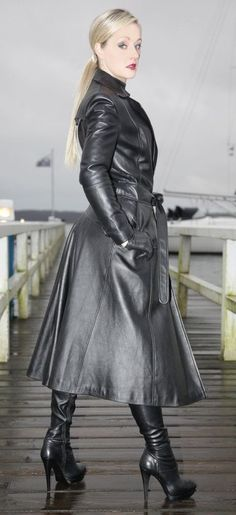 Variant leather trench fetish