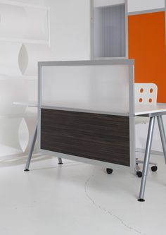 4' Privacy and Modesty with Translucent and Wood Laminate panels