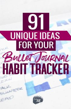 Looking for ideas and inspiration for your bullet journal habit tracker? Here's 91 unique ideas to get you inspired with things to track in your bujo habit tracker!
