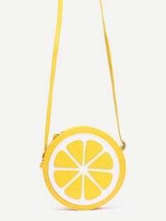 Bandolera forma limón - amarillo