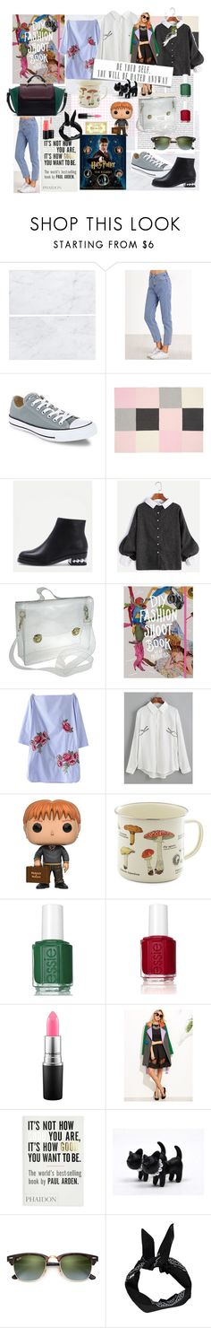 """""""I have got all of this things and I am so happy"""" by lianafourmouzi ❤ liked on Polyvore featuring Oris, Converse, Elegant Baby, Funko, Essie, MAC Cosmetics, Ray-Ban, GET LOST and Boohoo"""