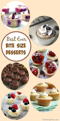 Mini Desserts - These bite size desserts are the perfect party food and everybod. - Mini Desserts – These bite size desserts are the perfect party food and everybody loves yummy bit - Potluck Desserts, Mini Desserts, Finger Food Desserts, Bite Size Desserts, Party Finger Foods, Snacks Für Party, Party Desserts, Appetizers For Party, Just Desserts