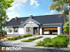Dom w nerinach 2 Modern House Facades, Roof Lines, Facade House, Home Photo, Cottage Homes, Home Fashion, Exterior Design, Shed, Farmhouse