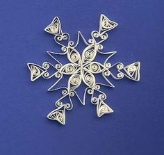 Quilling is fun, fast, and relatively easy for kids and grownups. Paper snowflakes to hang on the tree, in the window, or as an element in a card.