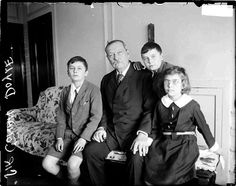 Sir Arthur Conan Doyle and family