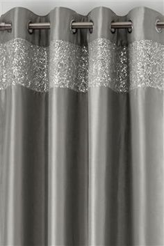 Buy Embellished Shimmer Band Eyelet Curtains From The Next UK Online Shop
